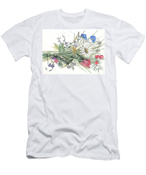 Wildflower Bouquet Men's T-Shirt (Athletic Fit)