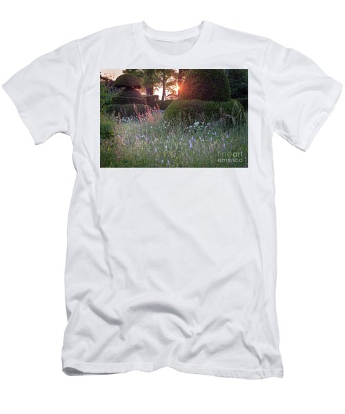 Wildflower Meadow At Sunset, Great Dixter Men's T-Shirt (Athletic Fit)