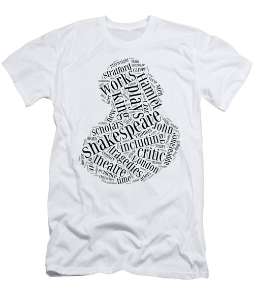 William Shakespeare Word Cloud Men's T-Shirt (Athletic Fit)