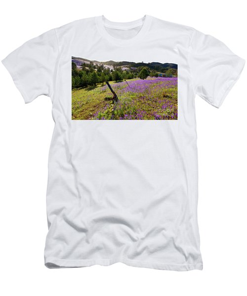 Men's T-Shirt (Slim Fit) featuring the photograph Willow Springs Station by Bill Robinson