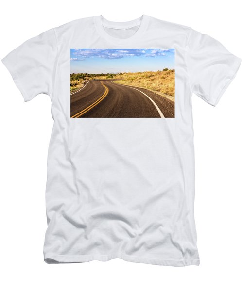Winding Desert Road At Sunset Men's T-Shirt (Athletic Fit)
