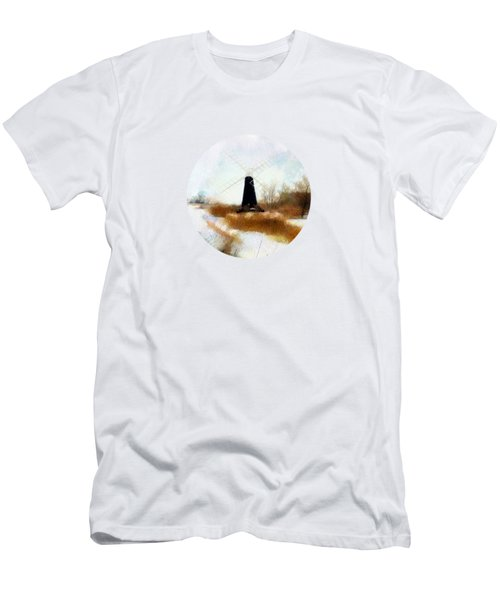 Windmill In The Snow Men's T-Shirt (Athletic Fit)
