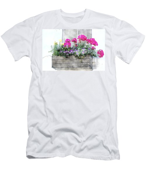 Men's T-Shirt (Athletic Fit) featuring the photograph Window Box 5 by Donna Bentley