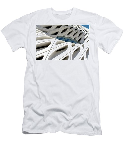 Men's T-Shirt (Athletic Fit) featuring the photograph Window Pool At The Broad by Lorraine Devon Wilke