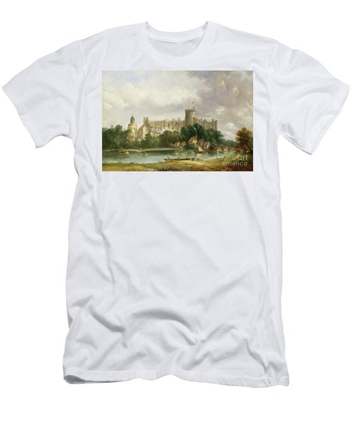 Windsor Castle - From The Thames Men's T-Shirt (Athletic Fit)