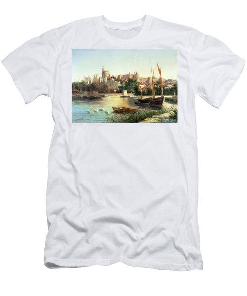 Windsor From The Thames   Men's T-Shirt (Athletic Fit)