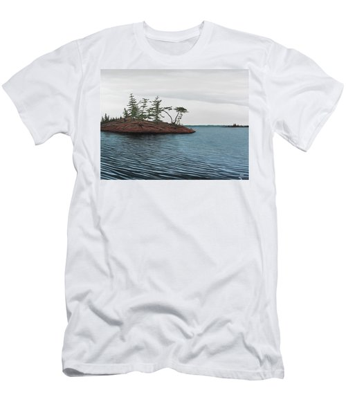 Windswept Island Georgian Bay Men's T-Shirt (Athletic Fit)