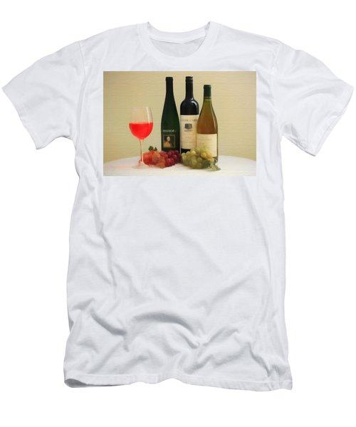 Wine Display Barn Door  Men's T-Shirt (Slim Fit) by Dan Sproul