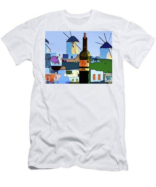 Wine In Mykonos Men's T-Shirt (Athletic Fit)