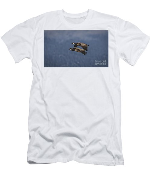 Men's T-Shirt (Slim Fit) featuring the photograph Wingman  by Mitch Shindelbower