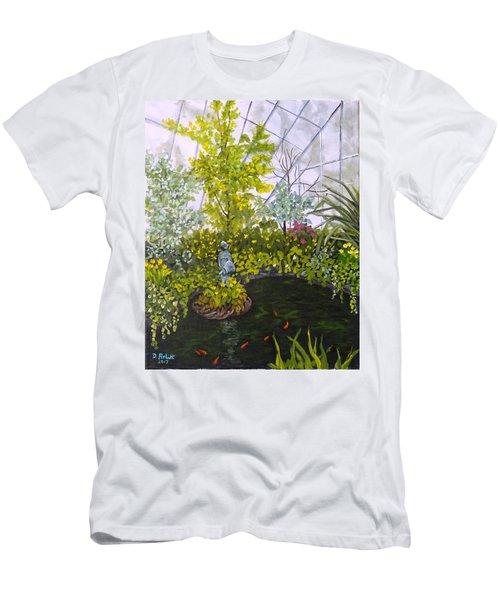 Winter At Allan Gardens Men's T-Shirt (Slim Fit) by Diane Arlitt