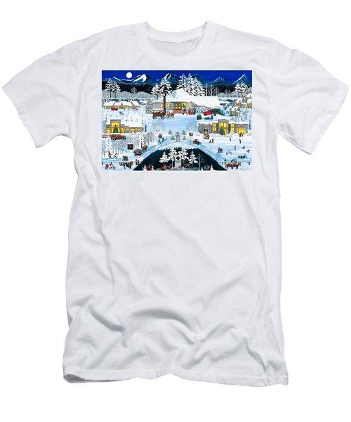 Winter At Black Butte Men's T-Shirt (Athletic Fit)