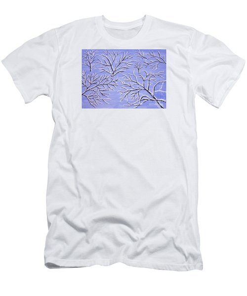 Winter Branches, Painting Men's T-Shirt (Athletic Fit)