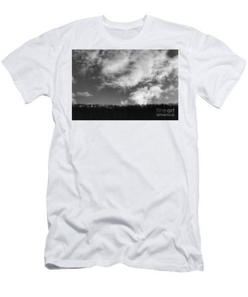 Winter Clouds Over The Delaware River Men's T-Shirt (Athletic Fit)