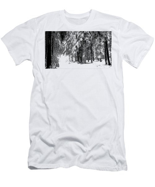 Winter Forest Bw - Cross Hatching Men's T-Shirt (Athletic Fit)
