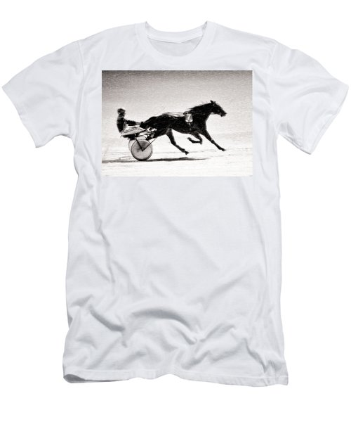 Winter Harness Racing Men's T-Shirt (Athletic Fit)