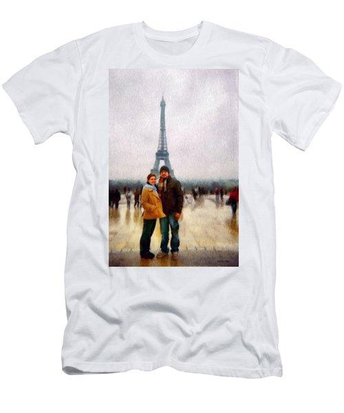 Winter Honeymoon In Paris Men's T-Shirt (Athletic Fit)