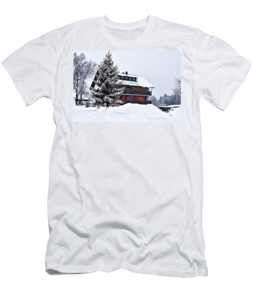 Men's T-Shirt (Athletic Fit) featuring the photograph Winter In Fleckl, Germany by Tatiana Travelways