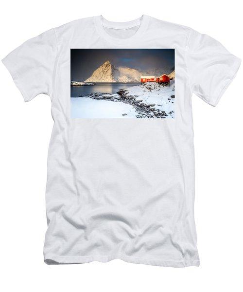 Winter In Lofoten Men's T-Shirt (Slim Fit) by Alex Conu