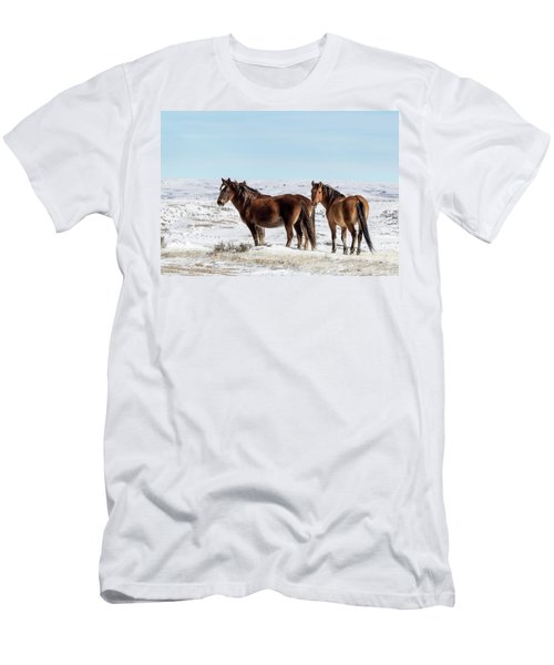 Winter In Sand Wash Basin - Wild Mustangs Men's T-Shirt (Athletic Fit)