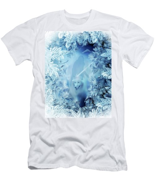 Winter Is Here - Jon Snow And Ghost - Game Of Thrones Men's T-Shirt (Slim Fit) by Lilia D