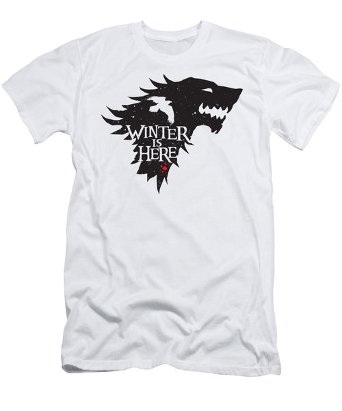 Winter Is Here Men's T-Shirt (Slim Fit) by Edward Draganski