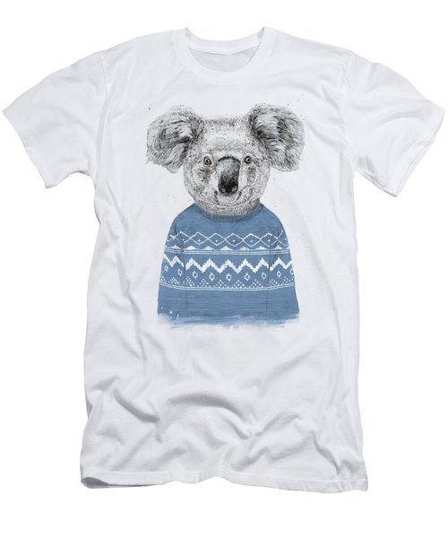 Winter Koala Men's T-Shirt (Athletic Fit)