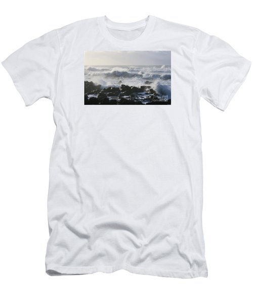 Men's T-Shirt (Slim Fit) featuring the photograph Winter Sea by Jeanette French