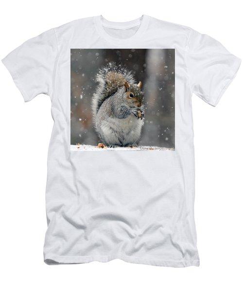 Winter Squirrel Men's T-Shirt (Athletic Fit)