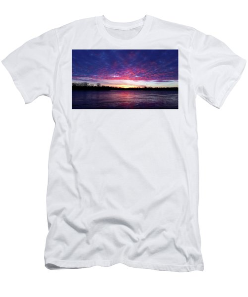 Winter Sunrise On The Wisconsin River Men's T-Shirt (Slim Fit) by Brook Burling