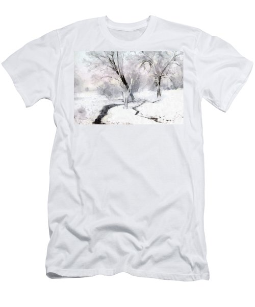 Men's T-Shirt (Slim Fit) featuring the digital art Winter Trees by Francesa Miller