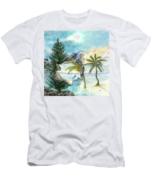 Men's T-Shirt (Athletic Fit) featuring the digital art Winter Vacation by Darren Cannell