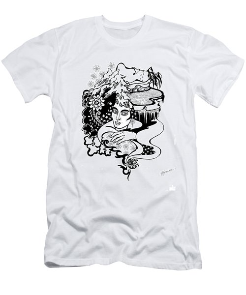 Winter Men's T-Shirt (Slim Fit) by Yelena Tylkina