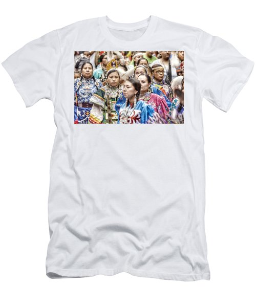 Men's T-Shirt (Slim Fit) featuring the photograph Winyan Strength by Clarice Lakota