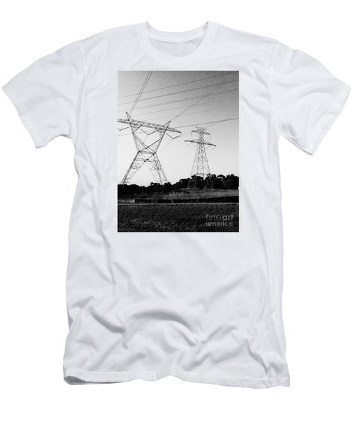 Wire Line Men's T-Shirt (Athletic Fit)