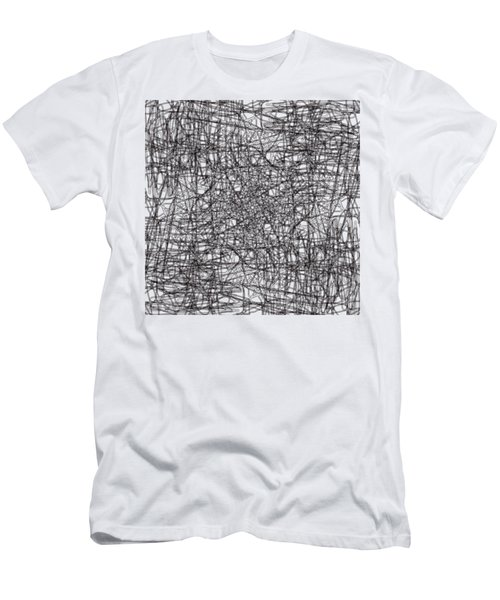 Wired Abstraction Men's T-Shirt (Slim Fit) by Eleonora Perlic