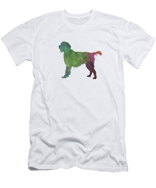 Wirehaired Pointing Griffon Korthals In Watercolor Men's T-Shirt (Slim Fit) by Pablo Romero
