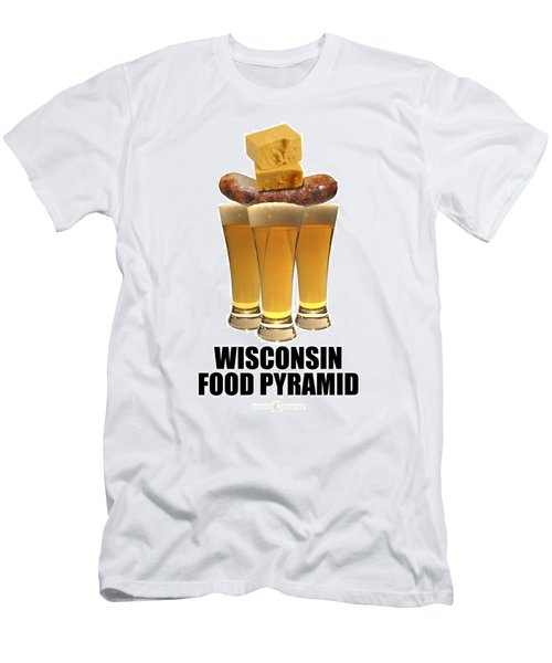 Wisconsin Food Pyramid Men's T-Shirt (Athletic Fit)