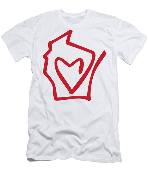Wisconsin Love Men's T-Shirt (Athletic Fit)
