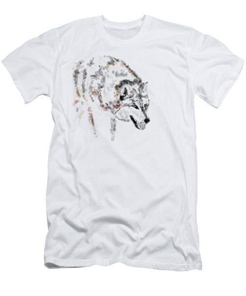 Wolf Men's T-Shirt (Slim Fit) by Barbara Moignard