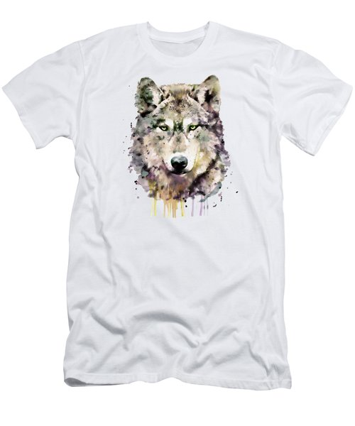 Wolf Head Men's T-Shirt (Slim Fit) by Marian Voicu