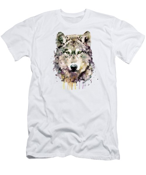 Wolf Head Men's T-Shirt (Athletic Fit)
