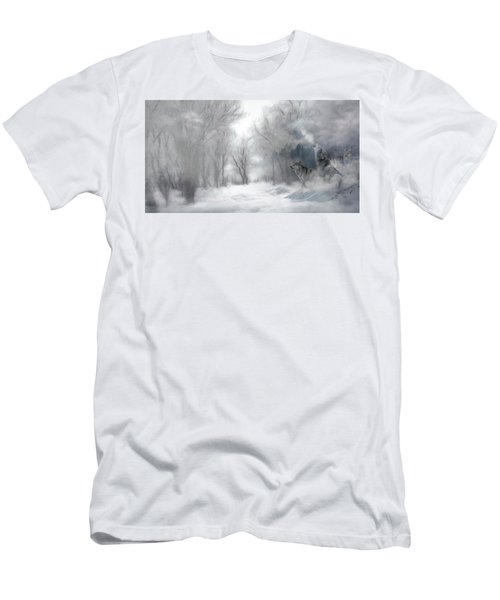 Wolves In The Mist Men's T-Shirt (Athletic Fit)