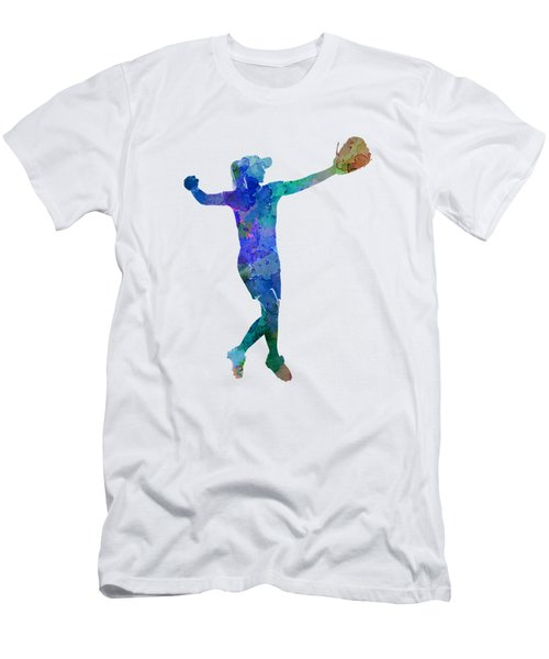 Woman Playing Softball 02 Men's T-Shirt (Athletic Fit)