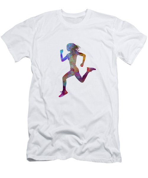 Woman Runner Running Jogger Jogging Silhouette 01 Men's T-Shirt (Athletic Fit)