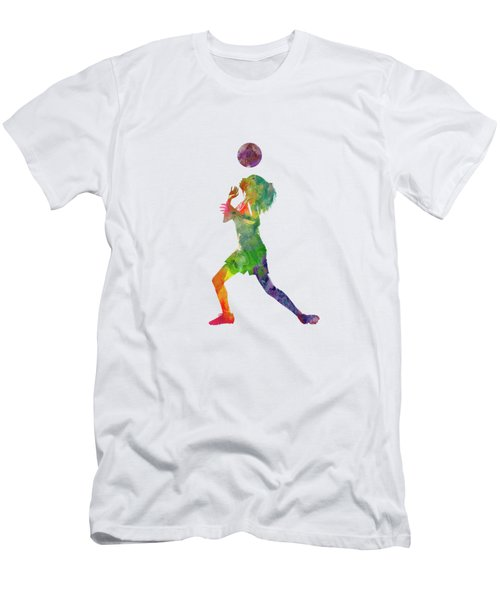 Woman Soccer Player 06 In Watercolor Men's T-Shirt (Athletic Fit)