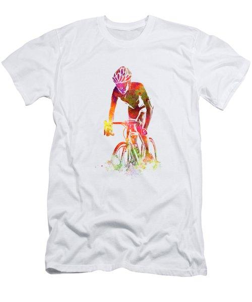 Woman Triathlon Cycling 04 Men's T-Shirt (Athletic Fit)