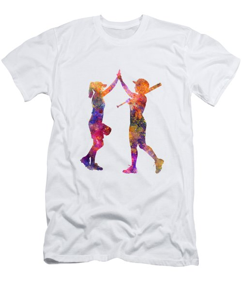 Women Playing Softball 01 Men's T-Shirt (Athletic Fit)