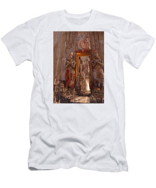 Wonders Door To The Luxor Men's T-Shirt (Slim Fit) by Te Hu