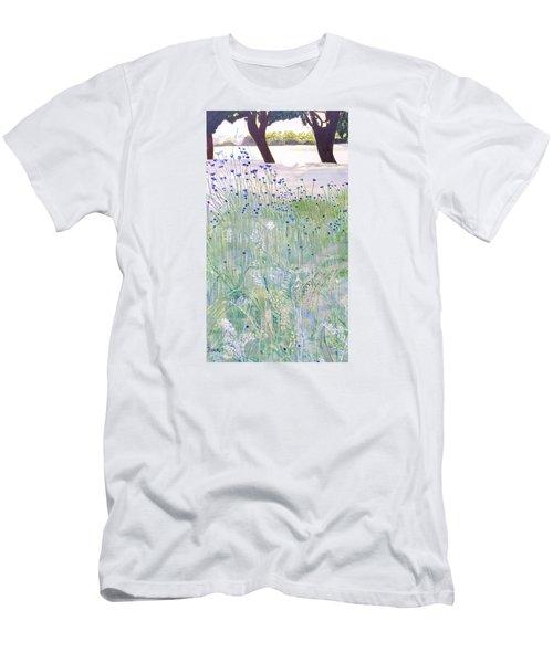 Woodford Park In Woodley Men's T-Shirt (Slim Fit) by Joanne Perkins